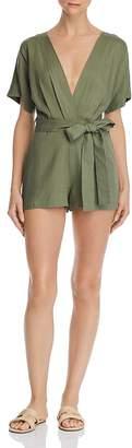 re:named apparel Re:Named Karlie Belted V-Neck Romper
