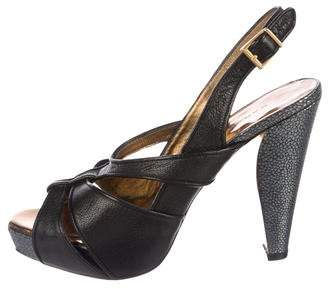 Barbara Bui Leather Platform Sandals