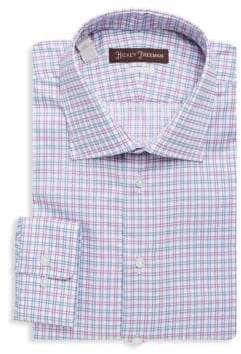 Hickey Freeman Windowpane Cotton Casual Button-Down Shirt