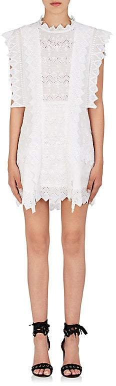 Isabel Marant Women's Nubia Embroidered Voile Shift Dress
