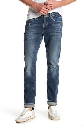 "Lucky Brand 121 Heritage Slim Distressed Jeans - 30-34"" Inseam"