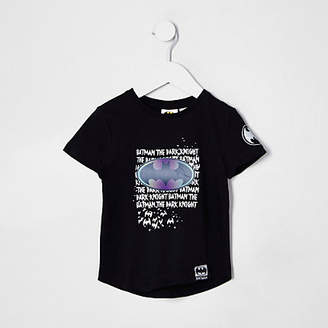 River Island Mini boys black Batman T-shirt