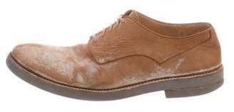 Maison Margiela Distressed Suede Derby Shoes