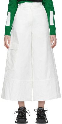 Moncler Genius 2 1952 White Wide-Leg Trousers