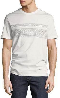 Salvatore Ferragamo Men's Gancio-Stripe Embroidered T-Shirt