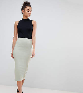 Asos Tall DESIGN Tall high waisted longerline pencil skirt