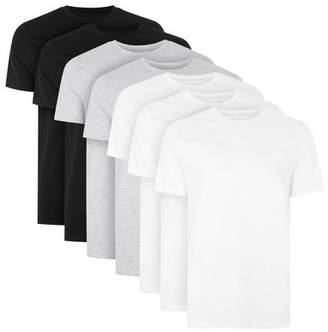 Topman Mens Multi Assorted Colour Slim Fit T-Shirt 7 Pack*