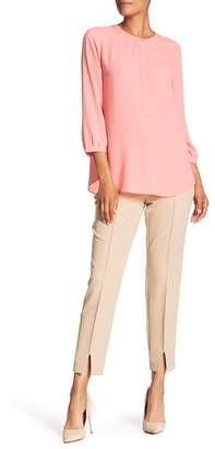 Adrianna Papell Vented Hem Slim Fit Pants