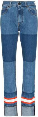 Calvin Klein fire tape applique straight jeans