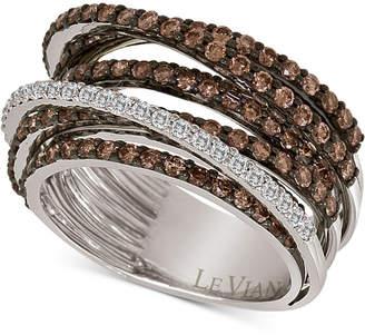 LeVian Le Vian Chocolatier Multi-Band Diamond Ring (2-1/3 ct. t.w.) in 14k White Gold