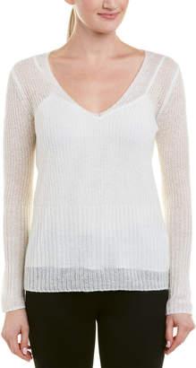 Ecru Wool-Blend Sweater