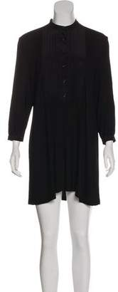 Jenni Kayne Silk-Paneled Mini Dress