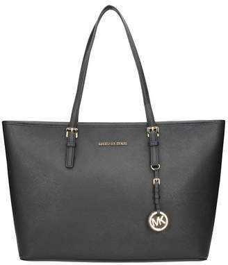 Michael Kors Jet Set Travel Medium Saffiano Leather Top-zip Tote