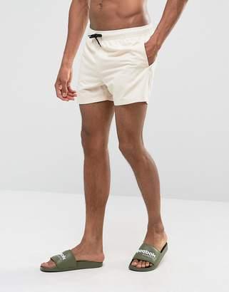 Asos Swim Shorts In Stone Short Length