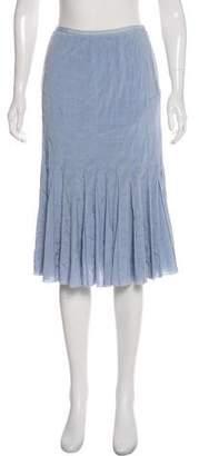 Tory Burch Knee- Length Silk Skirt