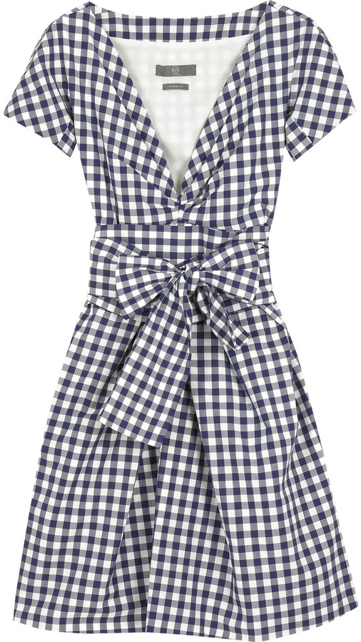 McQ V-neck gingham dress