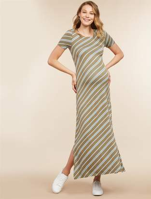 Jessica Simpson Motherhood Maternity Tie Detail Maternity Dress