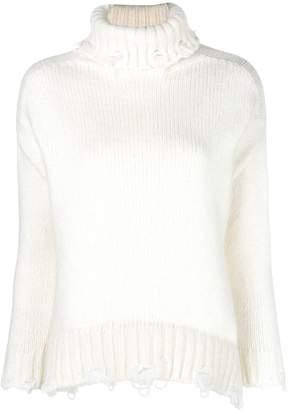Maison Flaneur nibbled hem turtleneck sweater