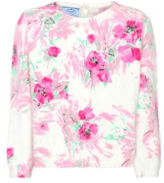 Prada Floral angora sweater