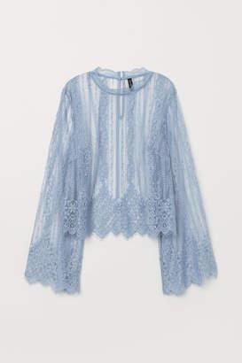 H&M Lace Blouse - Blue