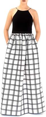 Aidan Mattox Contrast Bodice Gown