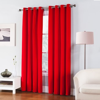 Fiesta 1-Panel Solid Twill Window Curtain