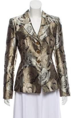 Armani Collezioni Floral Print Blazer