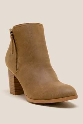 Fergalicious Ciello Distressed Ankle Boot - Cognac