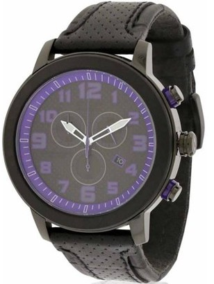 Citizen DRIVE BRT 3.0 Chronograph Black Leather Women's Watch, AT2235-00E