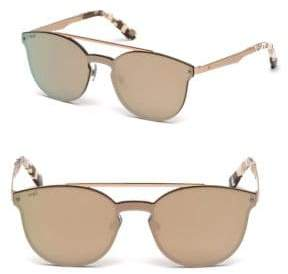 Web Metal Cat Eye Shield Sunglasses