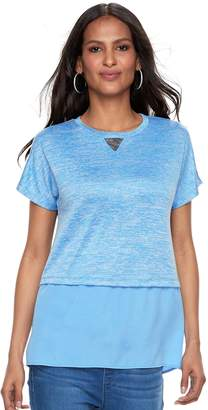 Juicy Couture Women's Embellished Mixed-Media Top