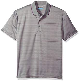 PGA TOUR Men's Modern Argyle Jacquard Polo