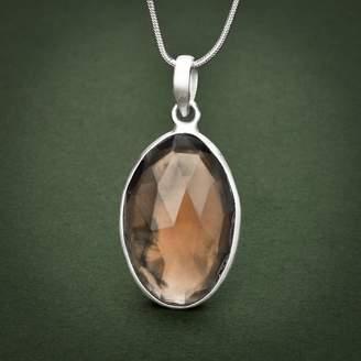 John Greed Vijapur Silver & Smokey Quartz Necklace
