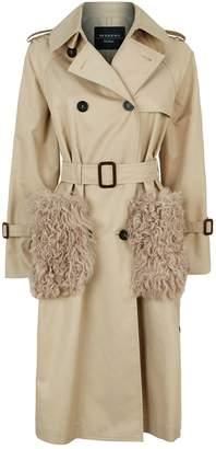 Max Mara Shearling Pocket Trench Coat