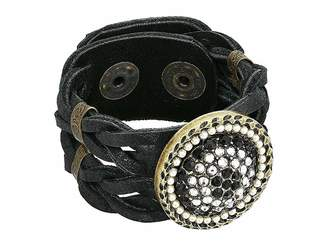 Leather Rock Mariah Bracelet