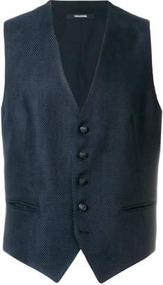 Tagliatore textured single breasted waistcoat