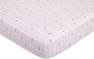 Petunia Pickle Bottom Dreaming in Dax Printed Fitted Crib Sheet, Pink/Gray/White
