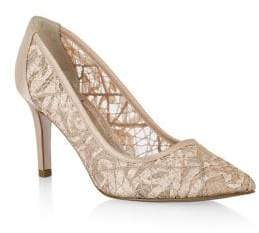 Adrianna Papell Hazyl Lace Pointed Toe Pumps