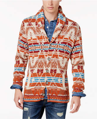 American Rag Men's Folk Geometric Shawl Cardigan