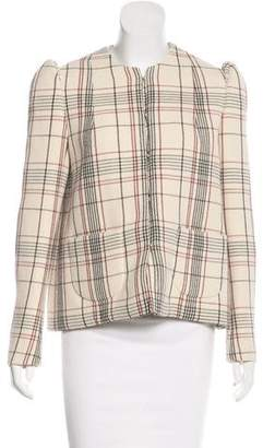 DELPOZO Plaid Wool Jacket