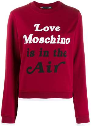 Love Moschino slogan print sweatshirt