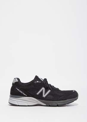 New Balance 990 Leather Mesh Sneakers Black/Silver