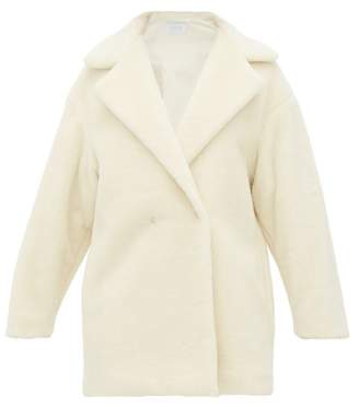 Harris Wharf London Teddy Alpaca Blend Coat - Womens - Ivory