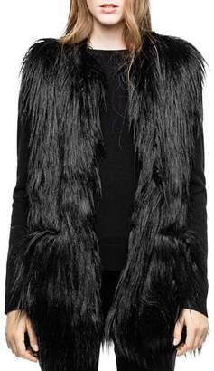 Zadig & Voltaire Fete Yeti Faux-Fur Vest