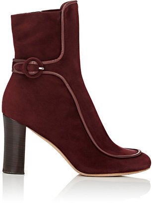 Derek Lam Women's Sam Piped Ankle Booties-BURGUNDY $399 thestylecure.com