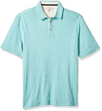 G.H. Bass & Co. Men's Big and Tall Desert Mountain Short Sleeve Heathered Polo