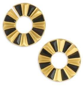 Dean Davidson Mosaic 22K Goldplated& Black Onyx Stud Earrings