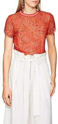 Proenza Schouler Women's Floral Lace Top - Orange