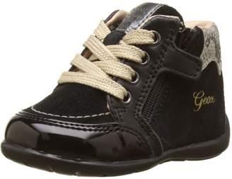 Geox Girl's B KAYTAN G. B First Walker Shoes, Black/Beige
