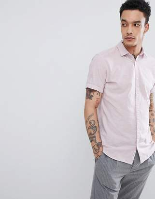 Jack and Jones Linen Mix Short Sleeve Shirt